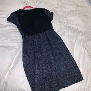 4e8d230c19a Seraphine Dresses - Navy blue bouclé Maternity Shift Dress
